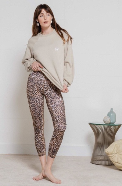 Workout Leggings Brown Leopard