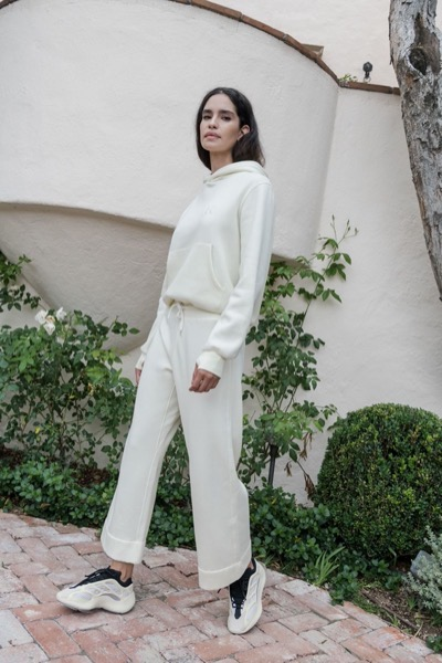 Wide Cropped Sweatpant Cream