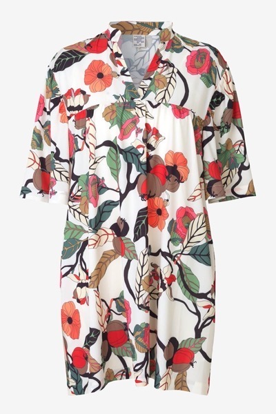 Apia Dress Cream Floral Branch