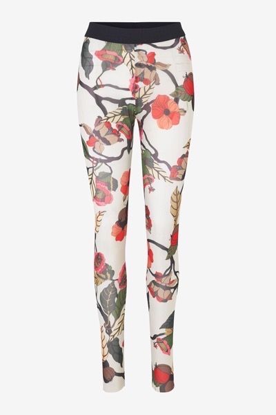Jazzlyn Tights Cream Floral Bran
