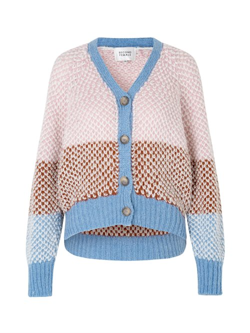 Berthe Knit Cardigan Light Mahagony