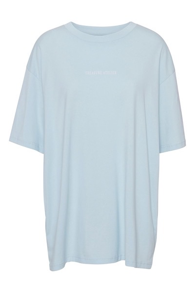 Anna Oversized Tee Light Blue