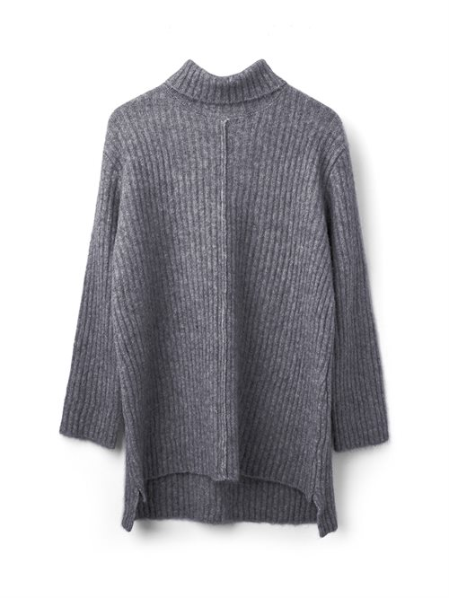 You Know Long Sweater Light Grey Melange