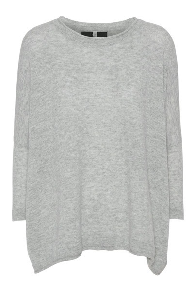 Fina Boxy Jumper Light Grey Melange