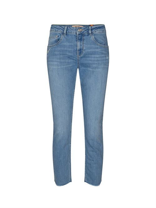 Bradford Letter Jeans Regular Cropped Light Blue