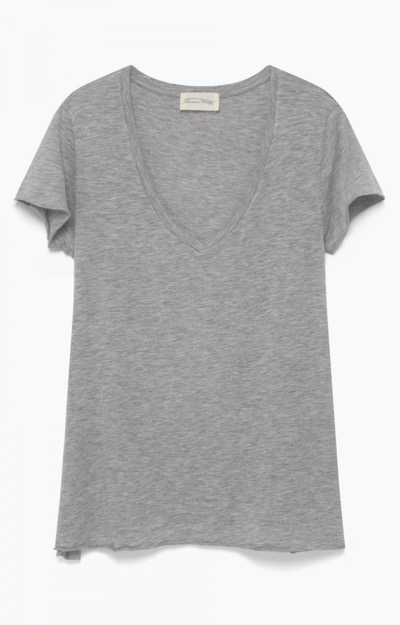 Jacksonville T-Shirt V-Neck Light Grey