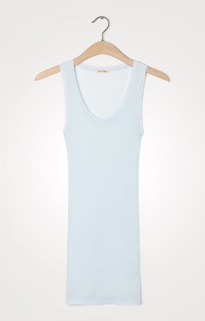 Massachusettes Tank Top Bleu Dragee