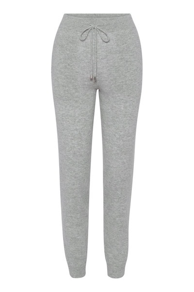 Nelia Trousers Light Grey Melange
