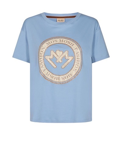 Leah O-Neck Short Sleeve Tee Bel Air Blue