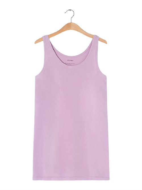 Vegiflower Tank Dress Mauve