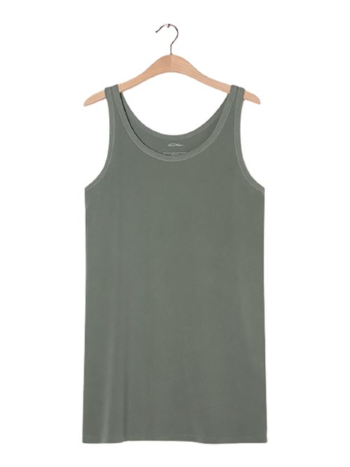 Vegiflower Tank Dress Olive