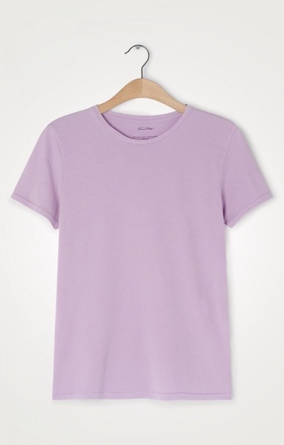 Vegiflower Tee O-Neck Soft Violet