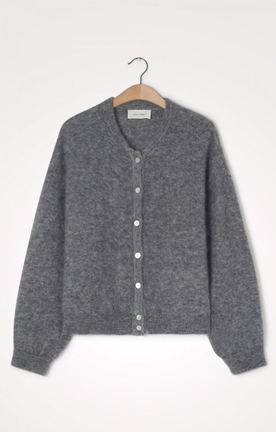 Zabidoo Cardigan Heather Grey