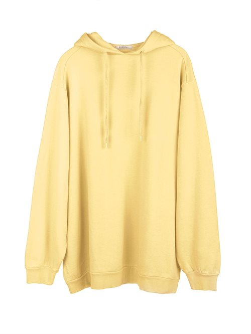 Super Oversized Hoodie Faded Yellow
